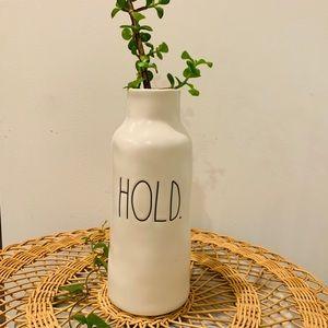 """Matte White Rae Dunn LL """"HOLD."""" Vase"""
